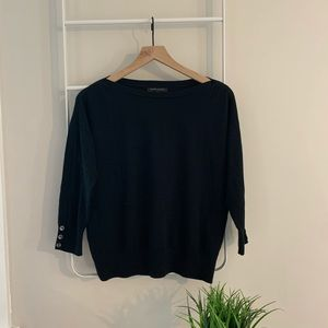 Banana Republic | 3/4 sleeve black sweater